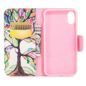 Colored Drawing Pattern Horizontal Flip Leather Case for Huawei P20 Pro,with Holder & Card Slots & Wallet(Tree of Life)