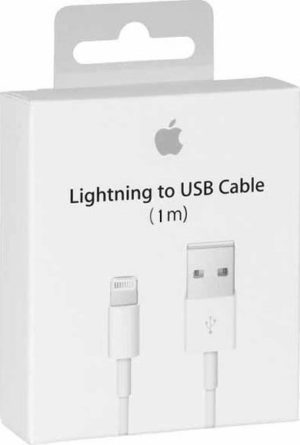 Apple Regular USB to Lightning Cable, White (MQUE2ZM/A)
