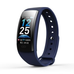 QS90 Plus 0.96 inch TFT HD Color Screen Smart Bracelet IP67 Waterproof, Support Call Reminder/ Heart Rate Monitoring /Blood Pressure Monitoring/ Sleep Monitoring/Blood Oxygen Monitoring (Blue)
