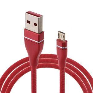 Nylon Weave Style USB to Micro USB Data Sync Charging Cable, Cable Length: 1m, For Galaxy, Huawei, Xiaomi, LG, HTC and Other Smart Phones (Red)
