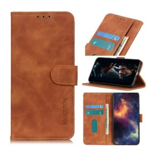 For Galaxy A10s Retro Texture PU + TPU Horizontal Flip Leather Case with Holder & Card Slots & Wallet(Brown)