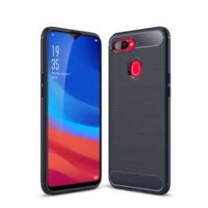 Brushed Texture Carbon Fiber Shockproof TPU Case for OPPO F9 (F9 Pro) & OPPO A7x(Navy Blue)