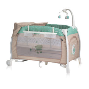 Lorelli Bertoni Παρκοκρέβατο i lounge green beige moon bear 10080021932