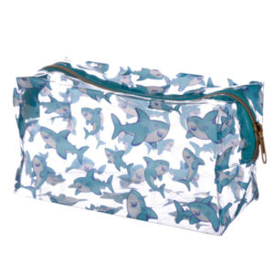 Handy Clear PVC Wash Bag - Shark Design