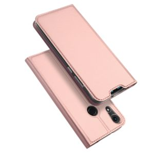 DUX DUCIS Skin Pro Series Horizontal Flip PU + TPU Leather Case for Huawei Honor Play 8A, with Holder & Card Slots(Rose Gold) (DUX DUCIS)
