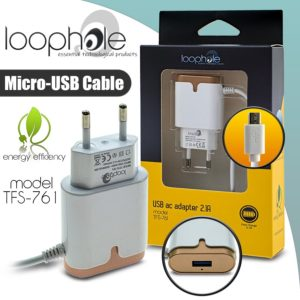 LOOPHOLE AC Adapter Micro-B GOLD