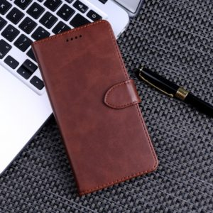 Calf Texture Horizontal Flip Leather Case for Huawei Y7 2019, with Holder & Card Slots & Wallet(Brown)