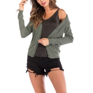 Autumn and Winter Retro Sweater (Color:Army Green Size:XL)