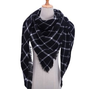 Spring Winter Knitted Scarf Neck Plaid Pashmina Warm Scarves Shawls Lady Wrap(B4)