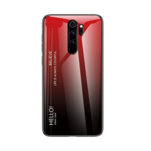For Xiaomi Redmi Note 8 Pro Gradient Color Glass Case(Red)