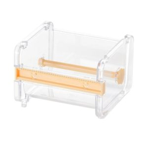 Tape Cutter Office Tape Dispenser Tape Storage Box, Size:10.3x9.1x7.1cm(Yellow)