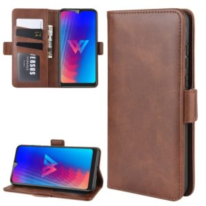 Wallet Stand Leather Cell Phone Case for LG W30,with Wallet & Holder & Card Slots(Brown)