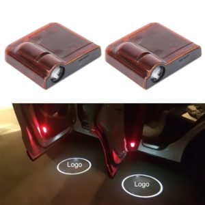 2 PCS LED Ghost Shadow Light, Car Door LED Laser Welcome Decorative Light, Display Logo for Peugeot Car Brand(Red)