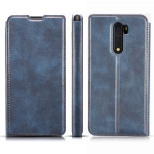 For Xiaomi Redmi Note8 Plus Retro Simple Ultrathin Magnetic Leather Case with Holder & Card Slots & Lanyard(Blue)