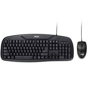 ASUS KM-95 PRO USB Wired High-key Prevent Splashing Keyboard + Ergonomic 1000DPI Optical Mouse Set, Keyboard Cable Length: 1.5m, Mouse Cable Length: 1.5m (ASUS)
