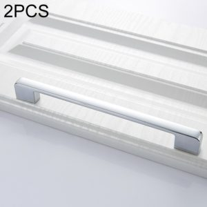 2 PCS 6613-224 Simple Cabinet Door Handle Drawer Wardrobe Zinc Alloy Handle (Bright Chrome)