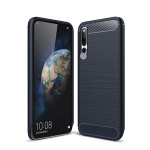 Carbon Fiber Texture TPU Shockproof Case For Huawei Honor Magic 2 (Navy Blue)