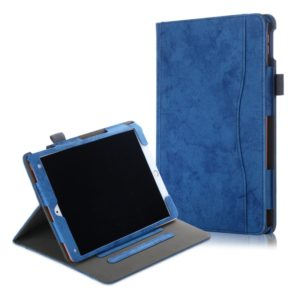 For iPad 10.2 Cowhide Texture Horizontal Flip Leather Case With Holder & Sleep / Wake-up Function(Blue)