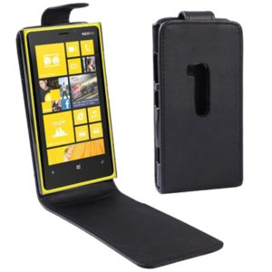 Vertical Flip Leather Case for Nokia Lumia 920 (Black)