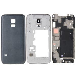 Full Housing Cover (Front Housing LCD Frame Bezel Plate + Middle Frame Bezel Back Plate Housing Camera Lens Panel + Battery Back Cover ) for Galaxy Alpha / G850(Black)