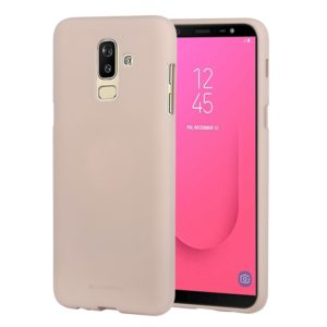 GOOSPERY SOFT FEELING Solid Color Dropproof TPU Protective Case for Samsung Galaxy J8 (2018) (Gold) (GOOSPERY)