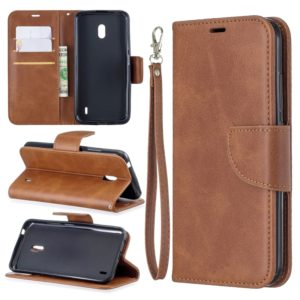 Retro Lambskin Texture Pure Color Horizontal Flip PU Leather Case with Holder & Card Slots & Wallet & Lanyard for Nokia 2.2(Brown)