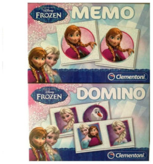 Clementoni Frozen 2in1 Σετ Memo Domino 17x22cm C98650