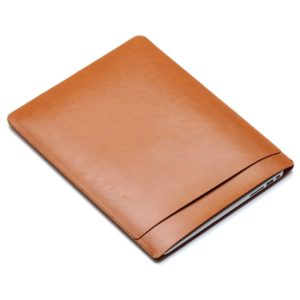 Laptop PU Leather Double Inner Bag for MacBook Air 13.3 inch (Light Brown)