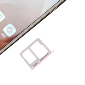 SIM Card Tray + SIM / Micro SD Card Tray for Galaxy C7 Pro / C7010 & C5 Pro / C5010(Rose Gold)