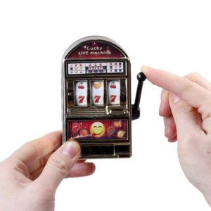 Mini Slot Machine Toy Rotatable Stress Reliever Children Party Jackpot Funny Jokes Play Toy, Random Color (MezoJaoie)