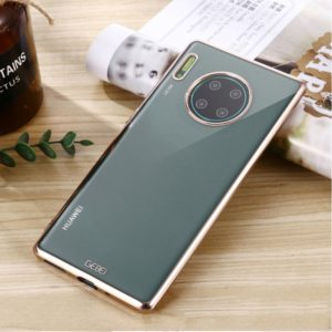 For Huawei Mate 30 GEBEI Plating TPU Shockproof Protective Case(Champagne Gold) (GEBEI)