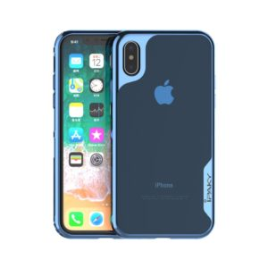 IPAKY Θήκη iphone X/Xs IPAKY Yuyan Series PC Bumper + Clear TPU Hybrid-blue