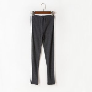 Women Printed Long Casual Pants (Color:Dark Gray Size:S)