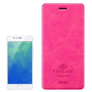 MOFI for VINTAGE Meizu M5S Crazy Horse Texture Horizontal Flip Leather Case with Card Slot (Magenta) (MOFI)