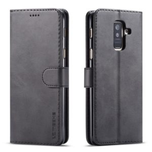 For Galaxy A6 (2018) LC.IMEEKE Calf Texture Horizontal Flip Leather Case, with Holder & Card Slots & Wallet(Black) (LC.IMEEKE)