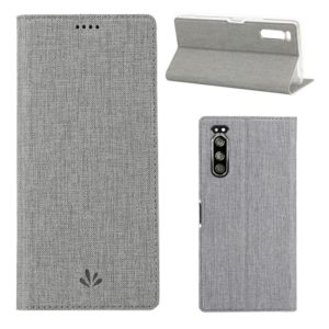 For Sony Xperia 5 ViLi Shockproof TPU + PU Horizontal Flip Protective Case with Card Slot & Holder(Grey) (ViLi)