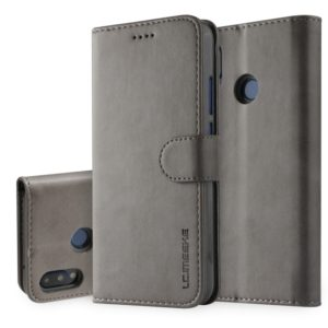 For Huawei P20 Lite / Nova 3e LC.IMEEKE Calf Texture Horizontal Flip Leather Case, with Holder & Card Slots & Wallet(Grey) (LC.IMEEKE)