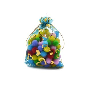 100 PCS Gift Pouches Bag Organza Bags Jewelry Candy Packaging Bags, Size:15x20cm(Sky Blue)