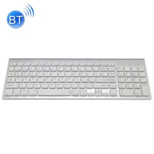 K368 Dual Mode Dual Channel 102 Keys Wireless Bluetooth Keyboard for Laptop, Notebook, Tablet and Smartphones, Support Android / iOS / Windows or An Updated Version(Silver)