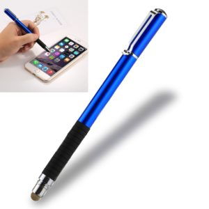 Universal 2 in 1 Multifunction Round Thin Tip Capacitive Touch Screen Stylus Pen, For iPhone, iPad, Samsung, and Other Capacitive Touch Screen Smartphones or Tablet PC(Dark Blue)