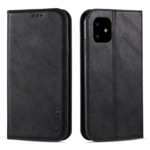 For iPhone 11 AZNS Retro Texture Magnetic Horizontal Flip PU Leather Case with Holder & Card Slots & Photo Frame(Black) (AZNS)