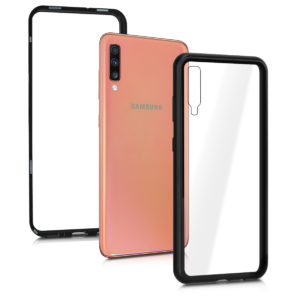 Kalibri Θήκη Full Body & Tempered Glass with Aluminum Frame Samsung Galaxy A70 - Black / Transparent (49444.01)