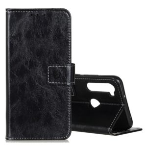 For Xiaomi Redmi Note 8T Retro Crazy Horse Texture Horizontal Flip Leather Case with Holder & Card Slots & Photo Frame & Wallet(Black)