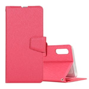 Silk Texture Horizontal Flip Leather Case for Galaxy A10 / M10, with Holder & Card Slots & Wallet & Photo Frame (Magenta)
