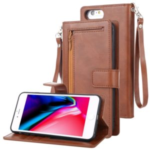 For iPhone 8 Plus MERCURY GOOSPERY DETACHABLE DIARY Detachable Horizontal Flip Leather Case with Holder & Card Slots & Zipper & Wallet(Brown) (GOOSPERY)