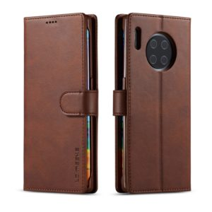For Huawei Mate 30 Pro LC.IMEEKE Calf Texture Horizontal Flip Leather Case, with Holder & Card Slots & Wallet(Brown) (LC.IMEEKE)
