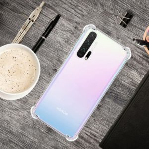 For Huawei Honor 20 Pro Four-Corner Anti-Drop Ultra-Thin Transparent TPU Phone Case(Transparent)