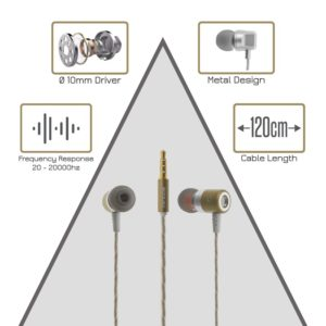 Metal Stereo Hi-Fi Handsfree M13 Gold