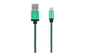 Forever Braided USB 2.0 to micro USB Cable Πράσινο 1m