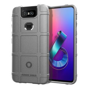 Shockproof Protector Cover Full Coverage Silicone Case for Asus Zenfone 6 (Grey)